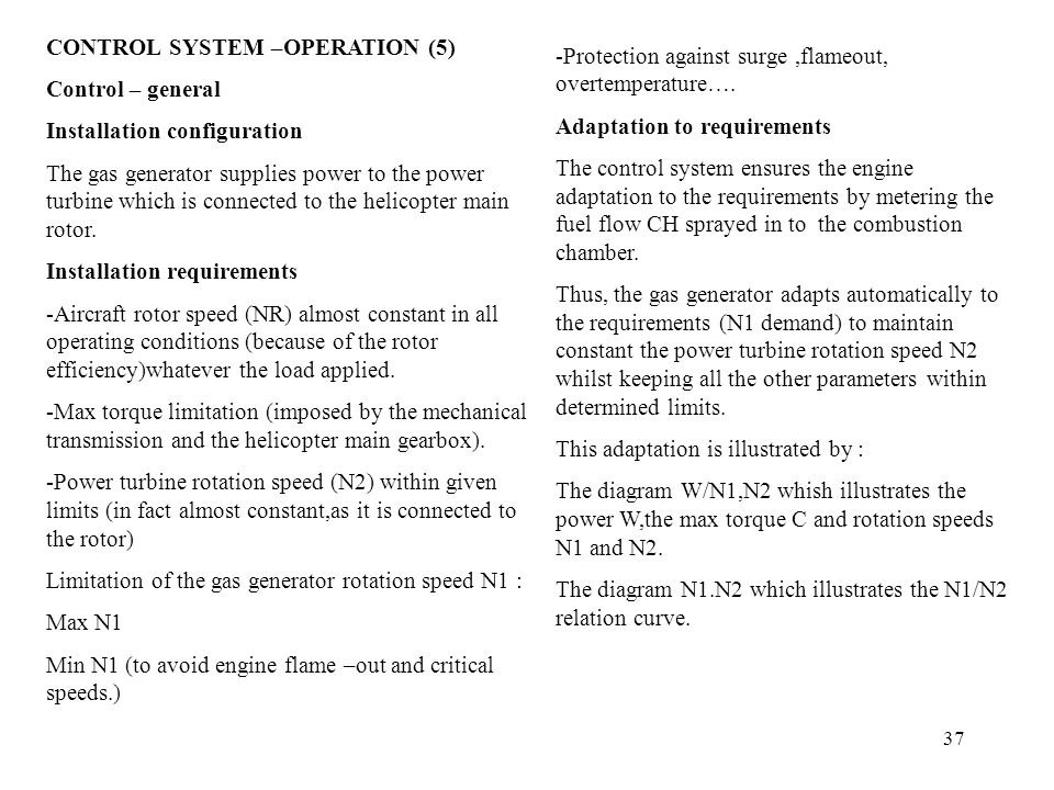 CONTROL SYSTEM –OPERATION (5)