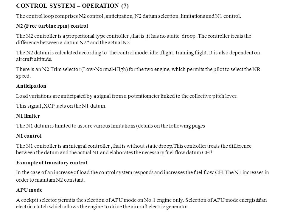 CONTROL SYSTEM – OPERATION (7)