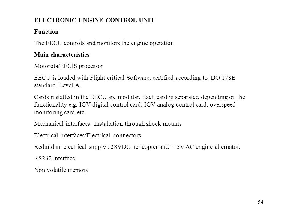 ELECTRONIC ENGINE CONTROL UNIT