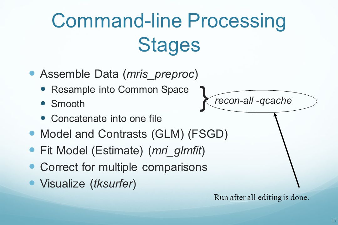Command-line Processing Stages
