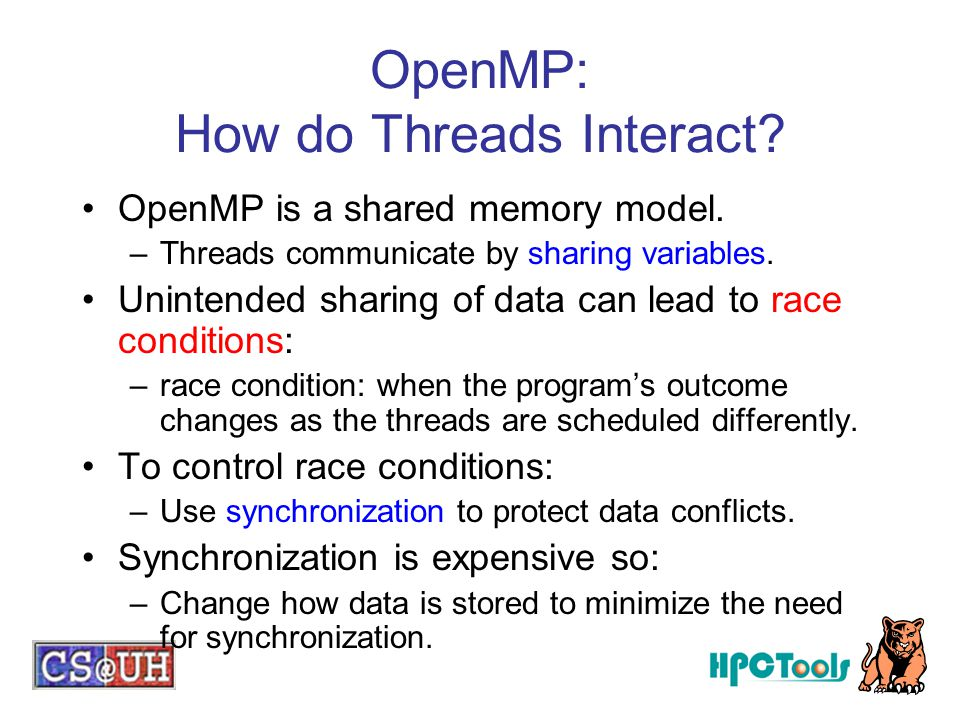 OpenMP: How do Threads Interact