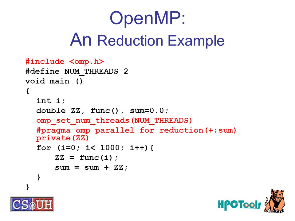 OpenMP: An Reduction Example