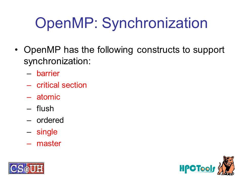 OpenMP: Synchronization