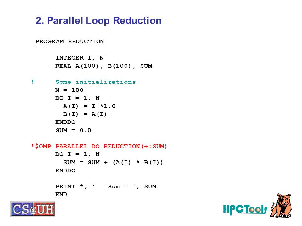 2. Parallel Loop Reduction