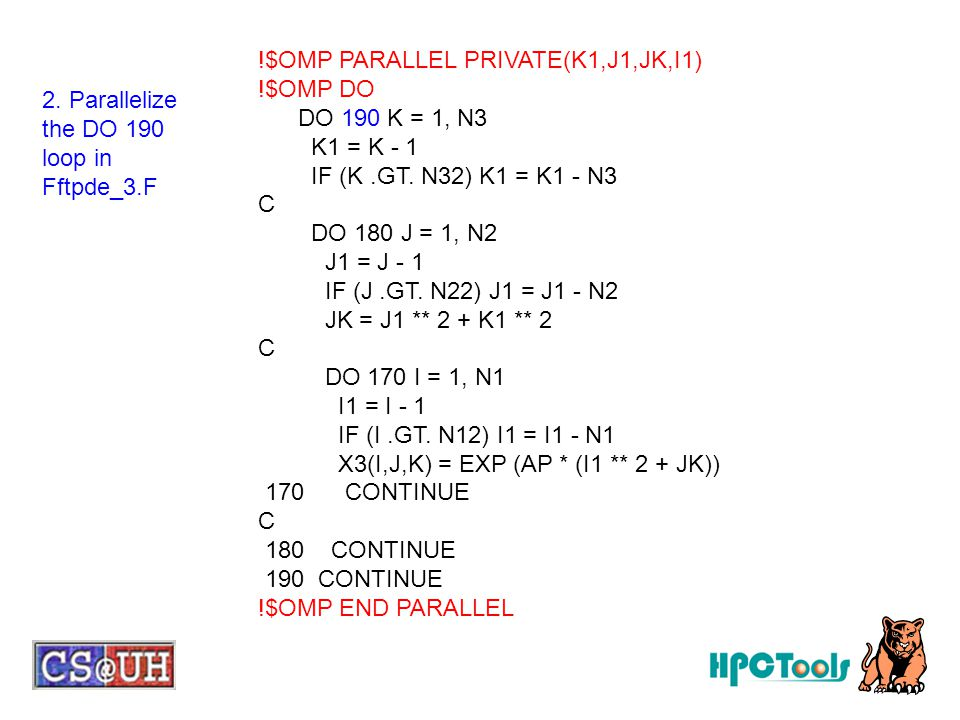!$OMP PARALLEL PRIVATE(K1,J1,JK,I1)