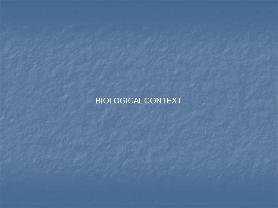 BIOLOGICAL CONTEXT