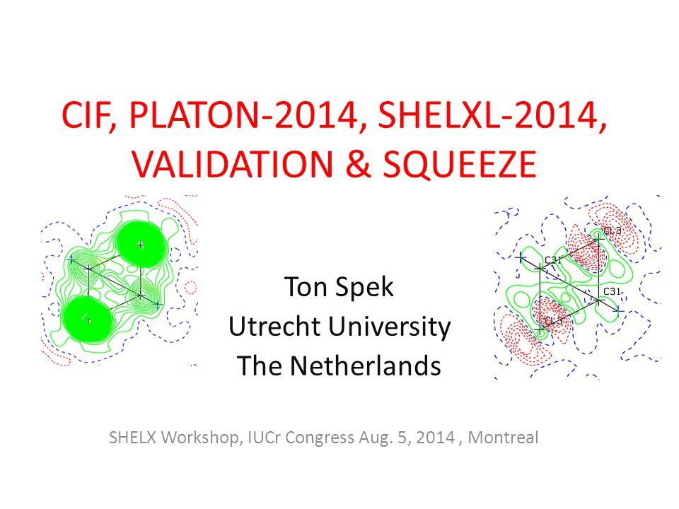 CIF, PLATON-2014, SHELXL-2014, VALIDATION & SQUEEZE