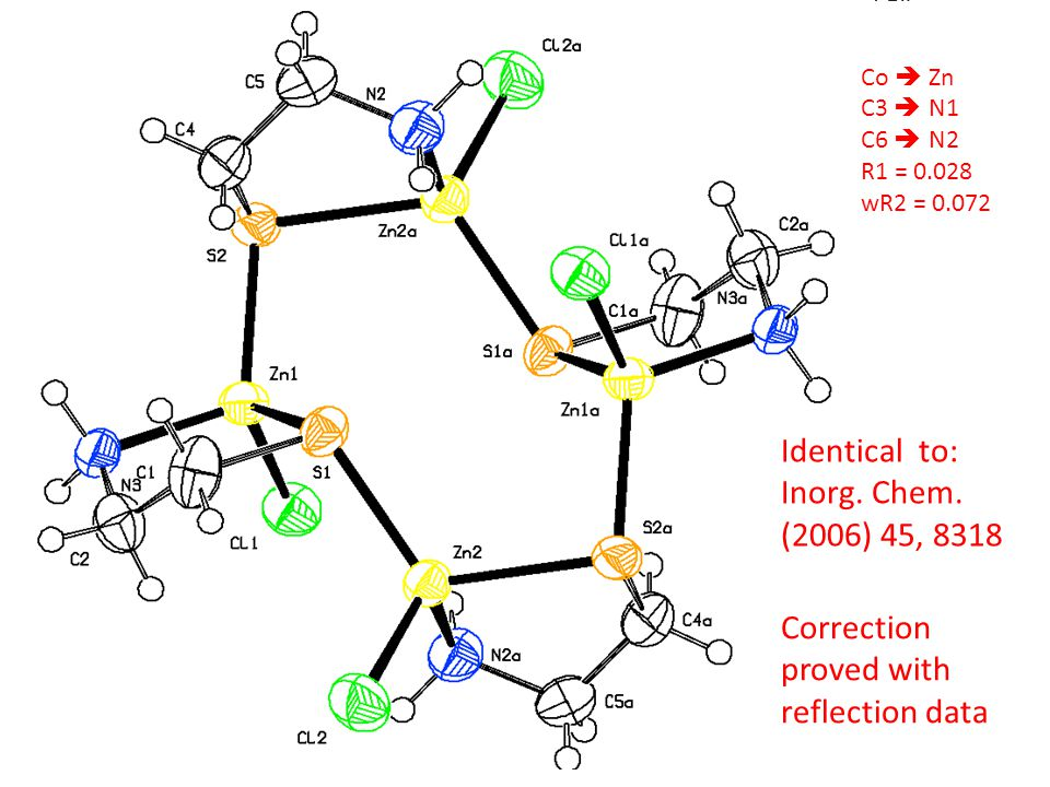 Identical to: Inorg. Chem. (2006) 45, 8318 Correction proved with
