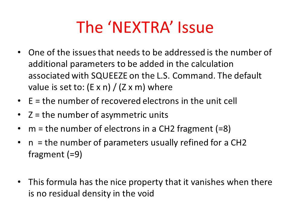 The 'NEXTRA' Issue