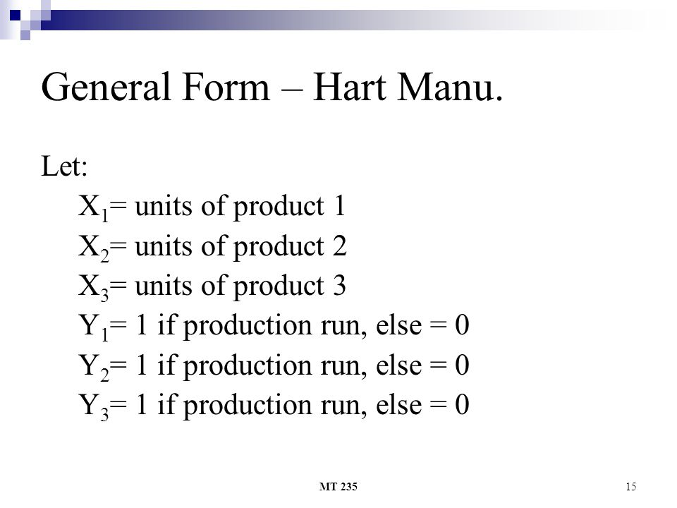 General Form – Hart Manu.