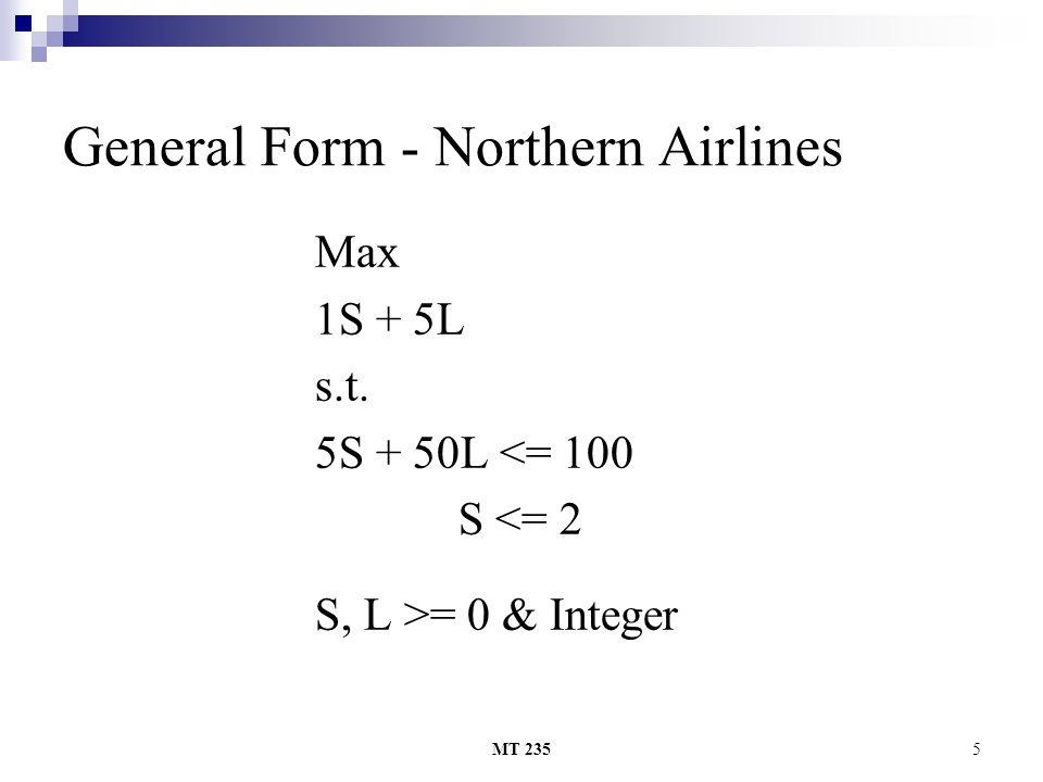 General Form - Northern Airlines