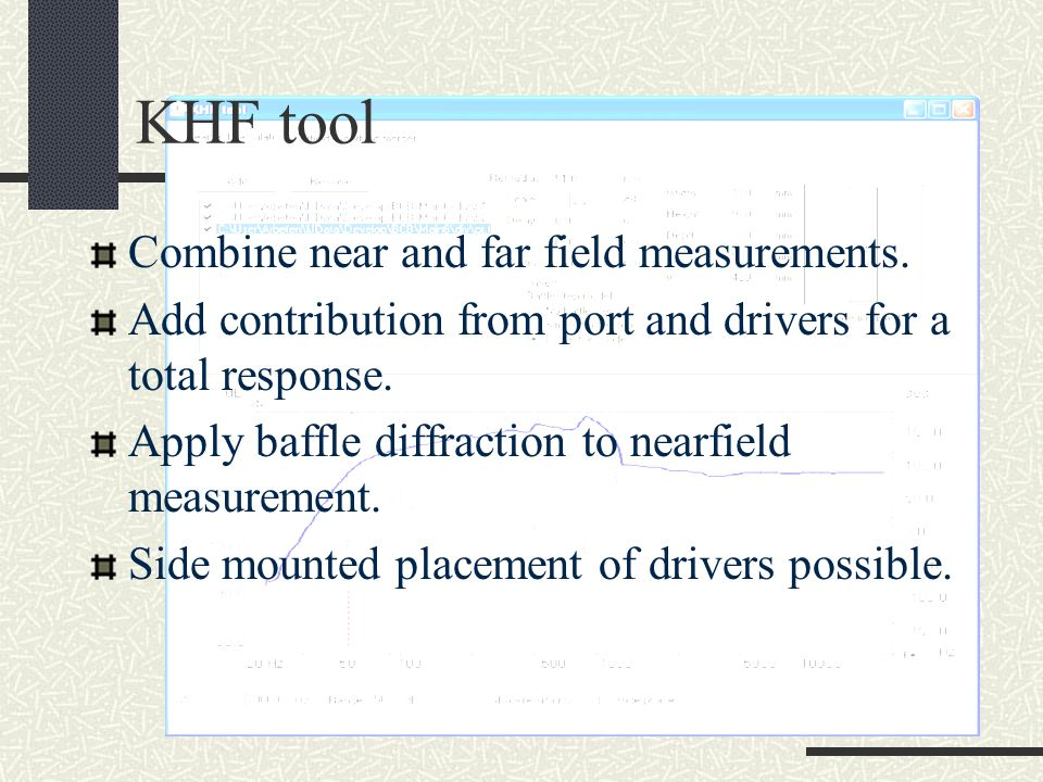 KHF tool Combine near and far field measurements.