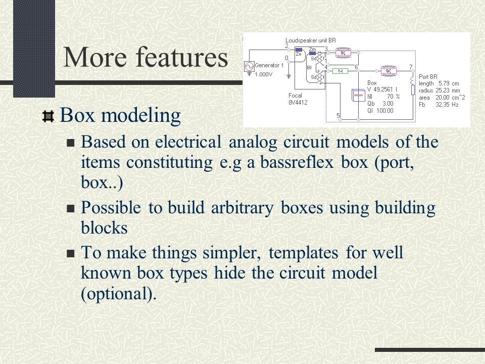 More features Box modeling