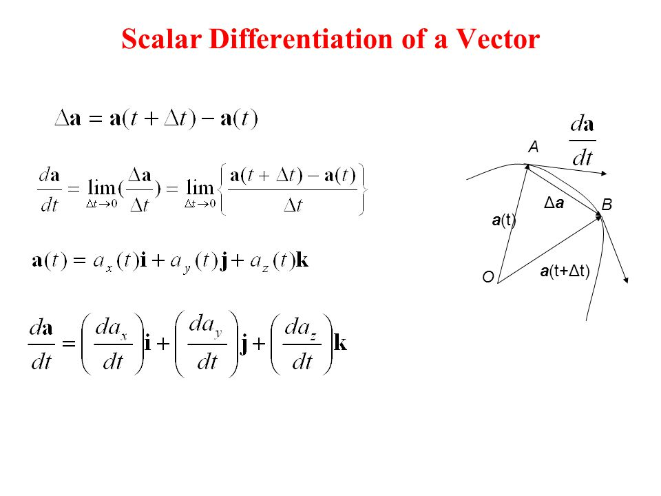 Scalar Differentiation of a Vector