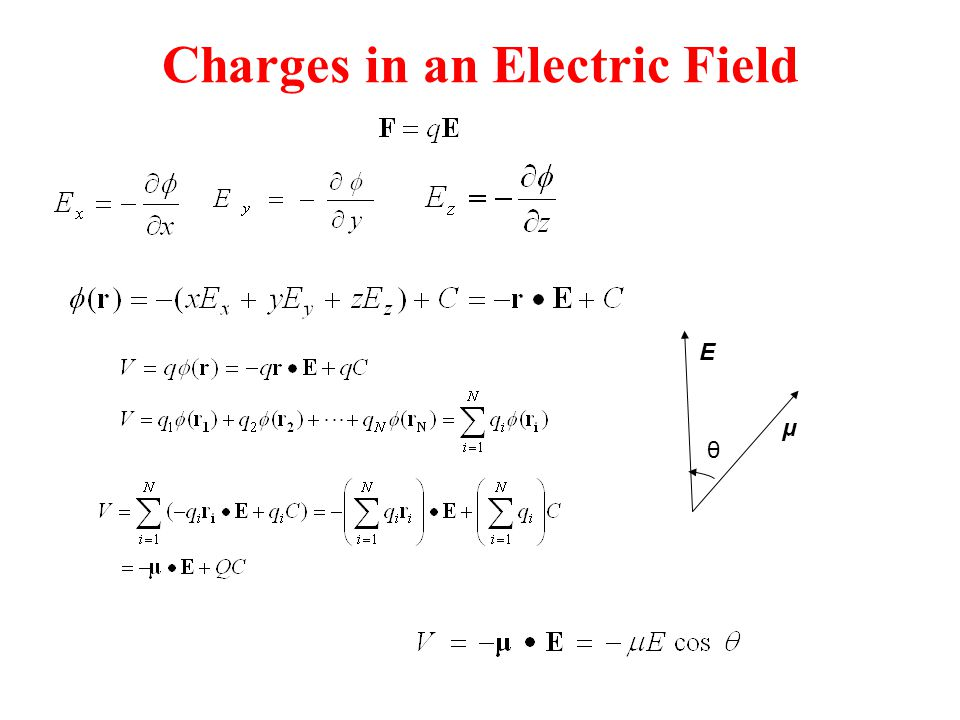 Charges in an Electric Field
