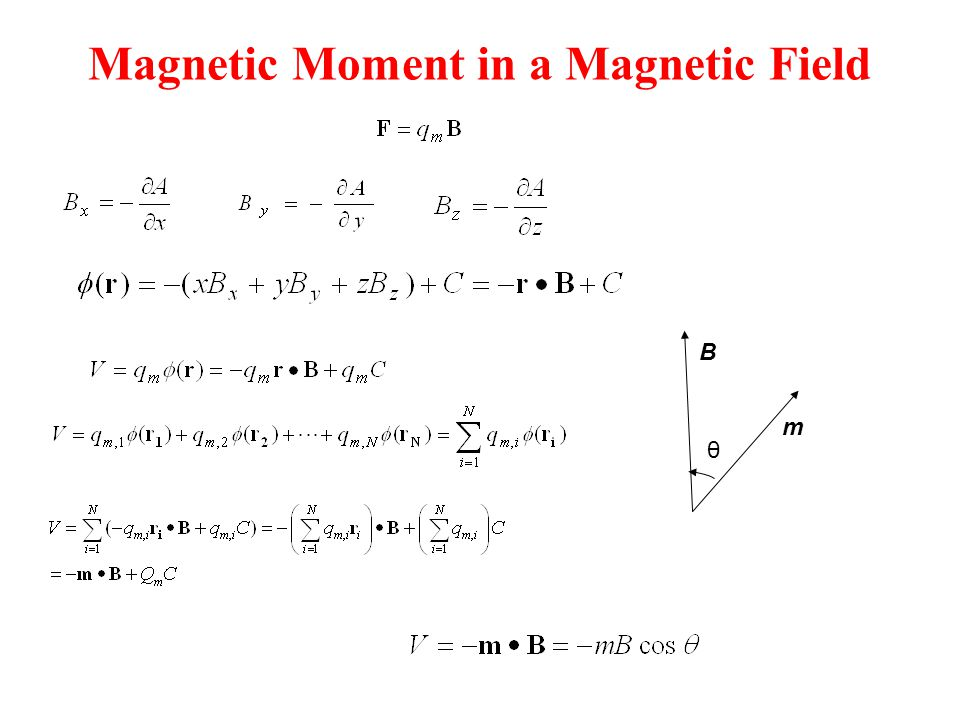 Magnetic Moment in a Magnetic Field