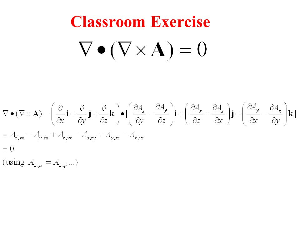 Classroom Exercise