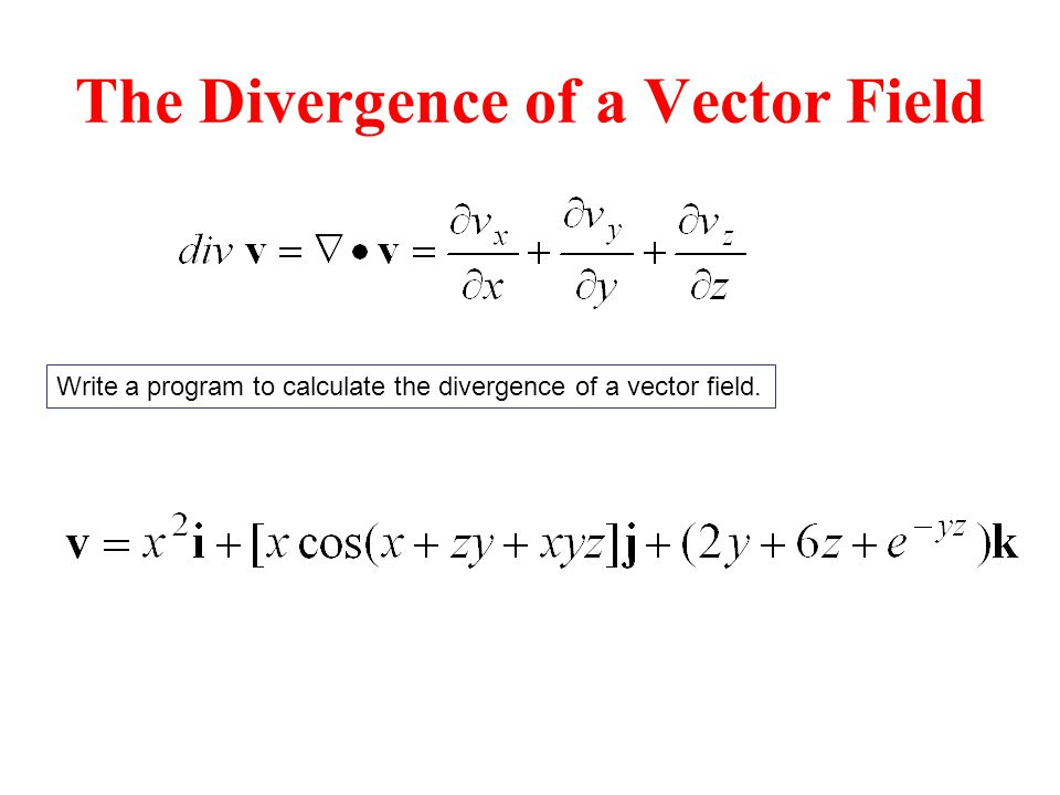 The Divergence of a Vector Field