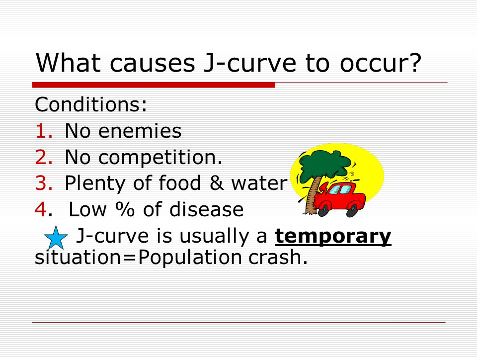 What causes J-curve to occur