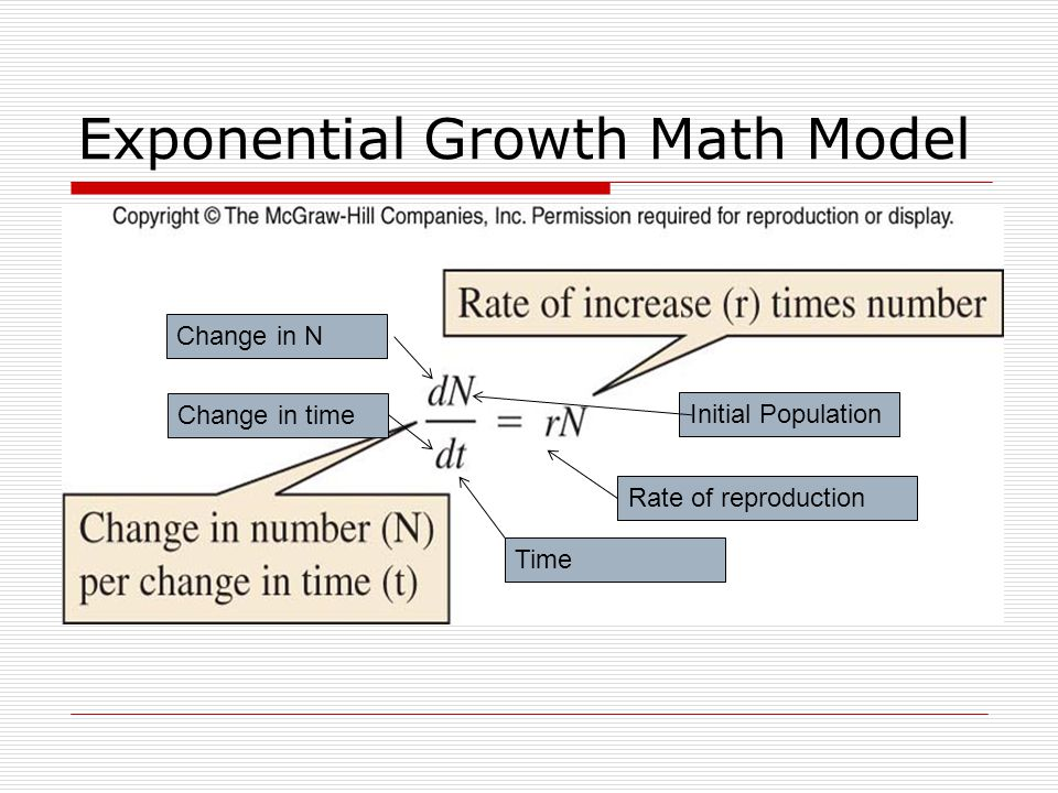 Exponential Growth Math Model
