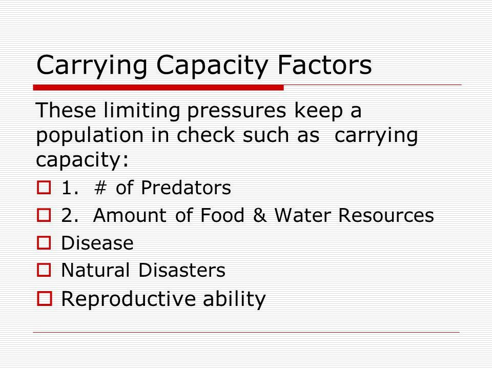 Carrying Capacity Factors