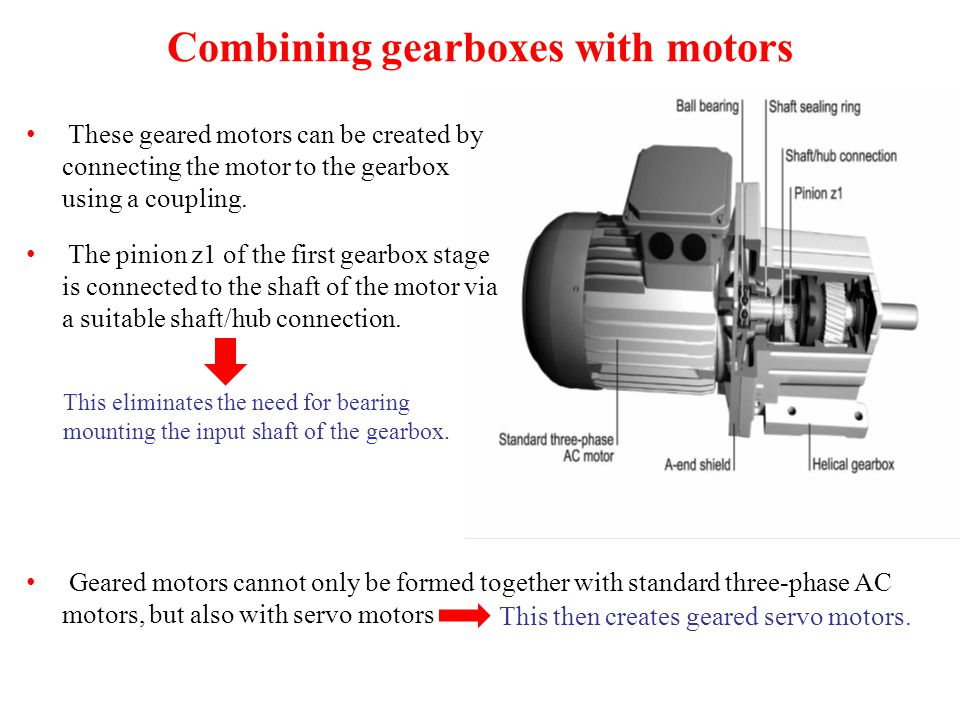 Combining gearboxes with motors
