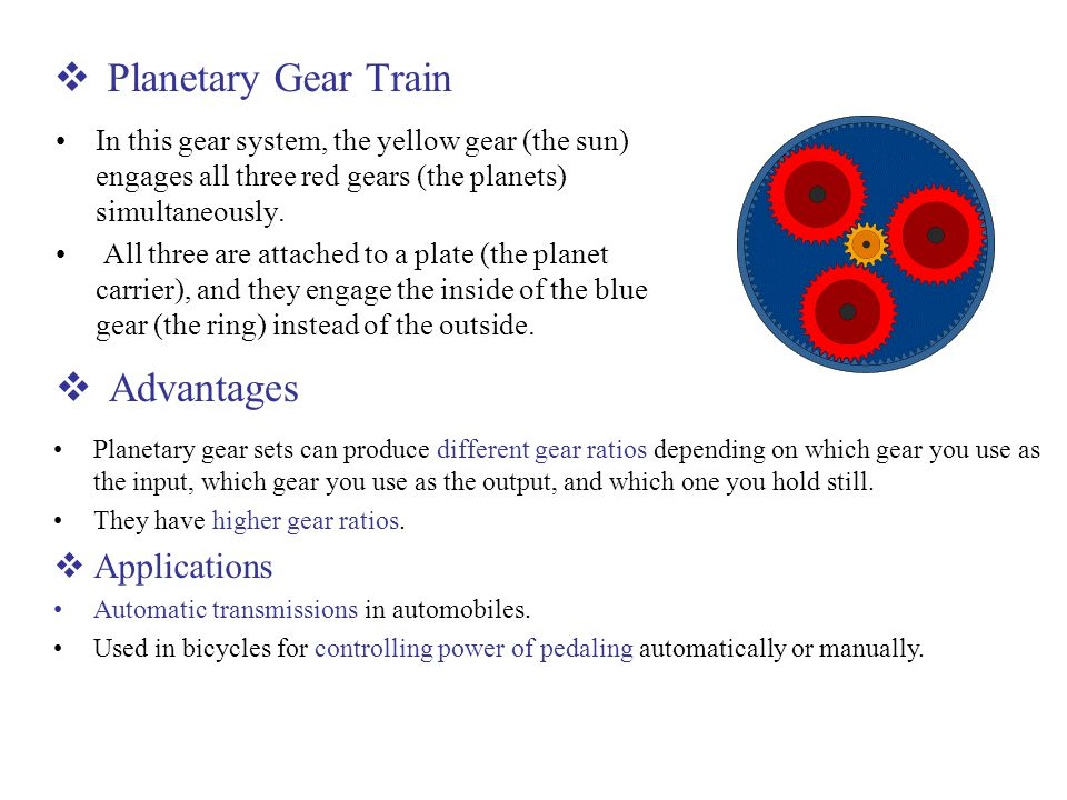 Planetary Gear Train Advantages Applications
