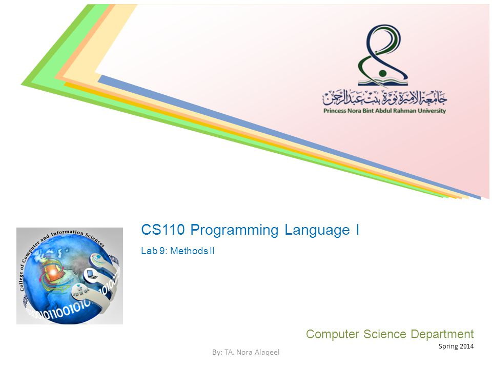 CS110 Programming Language I
