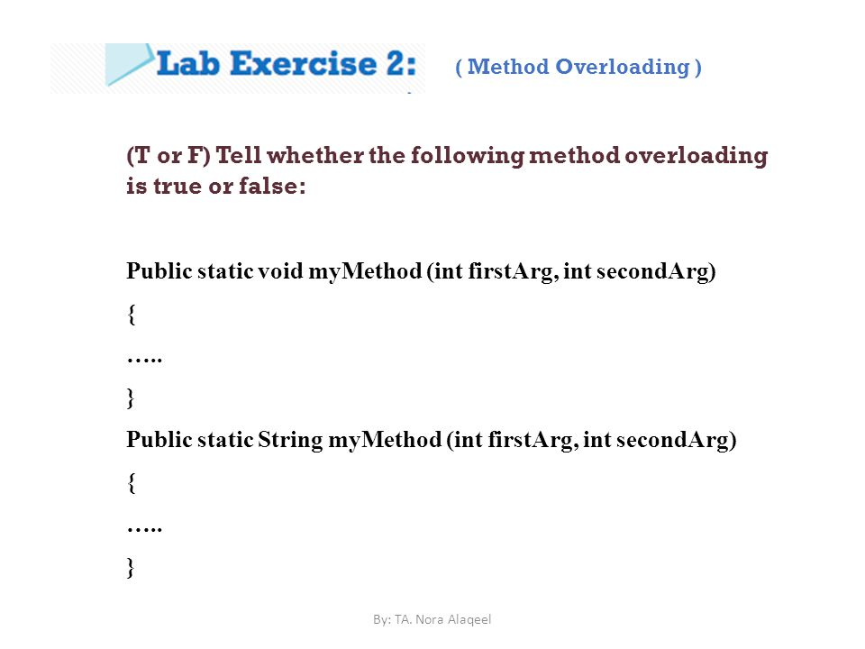 ( Method Overloading )