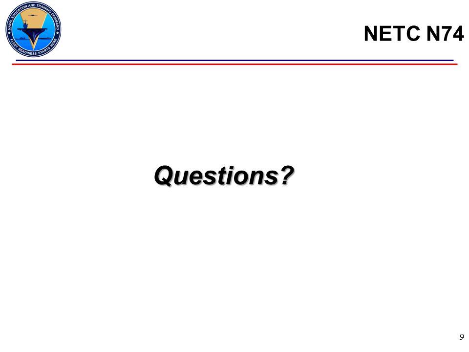 NETC N74 Questions