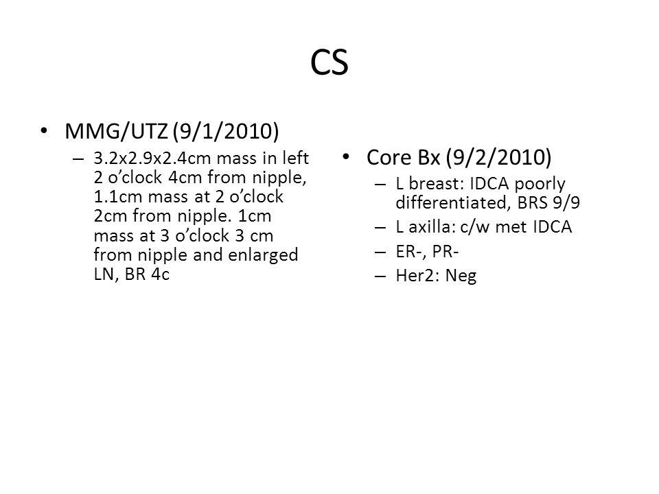 CS MMG/UTZ (9/1/2010) Core Bx (9/2/2010)