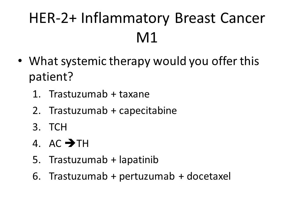 HER-2+ Inflammatory Breast Cancer M1