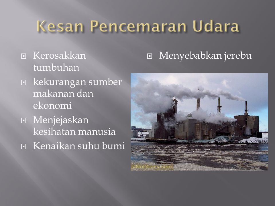 Kesan Pencemaran Udara