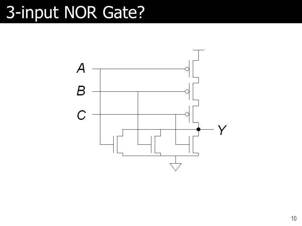 3-input NOR Gate