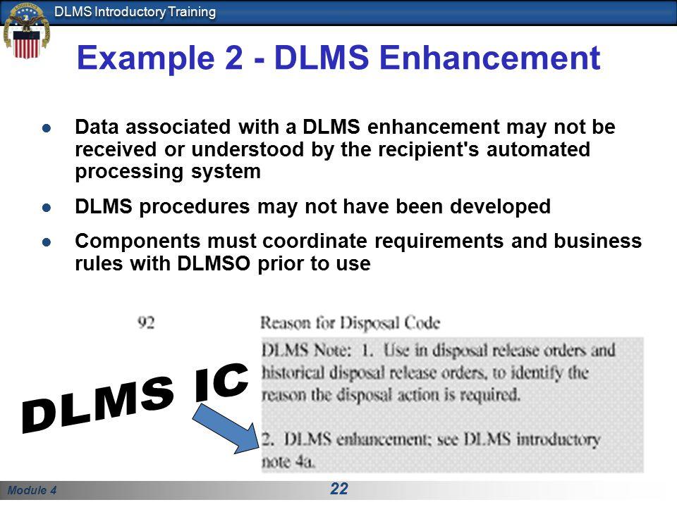Example 2 - DLMS Enhancement