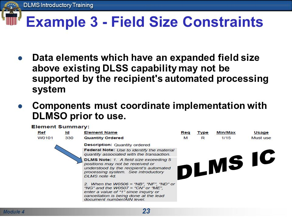 Example 3 - Field Size Constraints