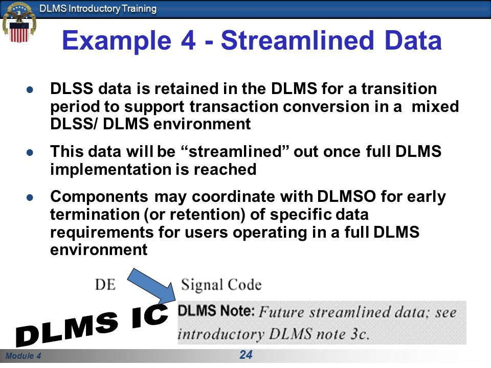 Example 4 - Streamlined Data