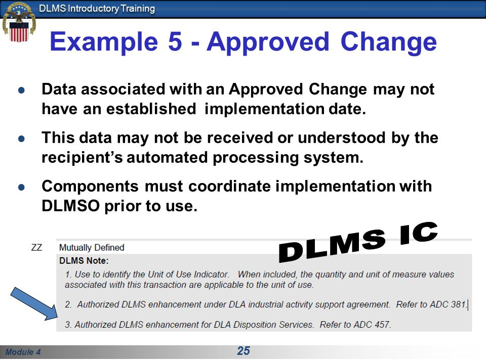 Example 5 - Approved Change