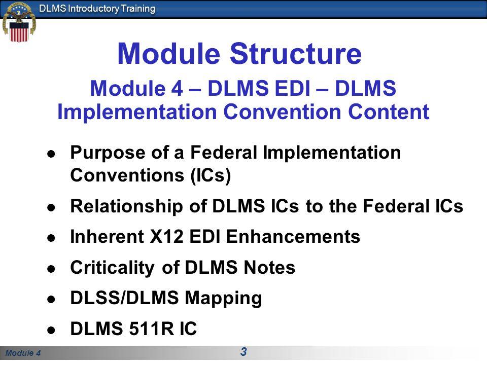 Module 4 – DLMS EDI – DLMS Implementation Convention Content