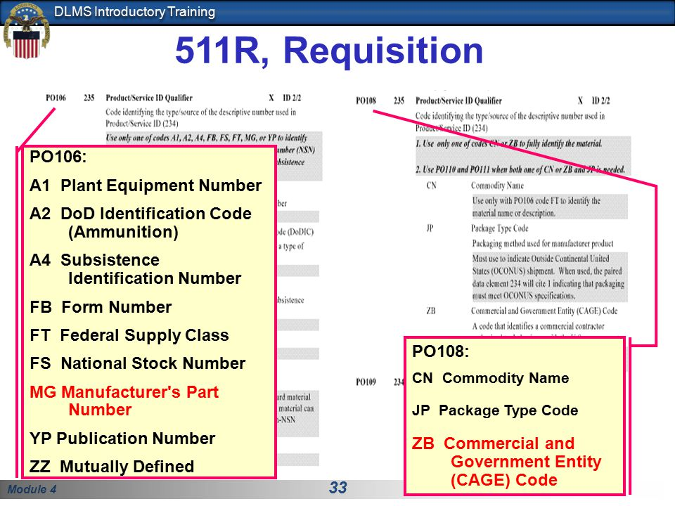 511R, Requisition PO106: A1 Plant Equipment Number