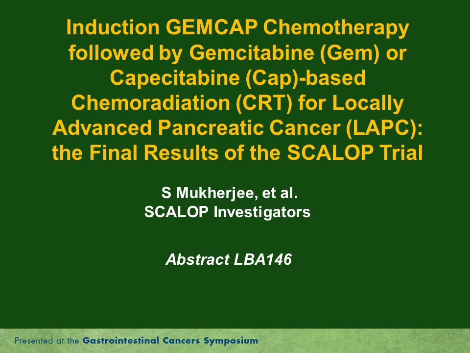 the Final Results of the SCALOP Trial