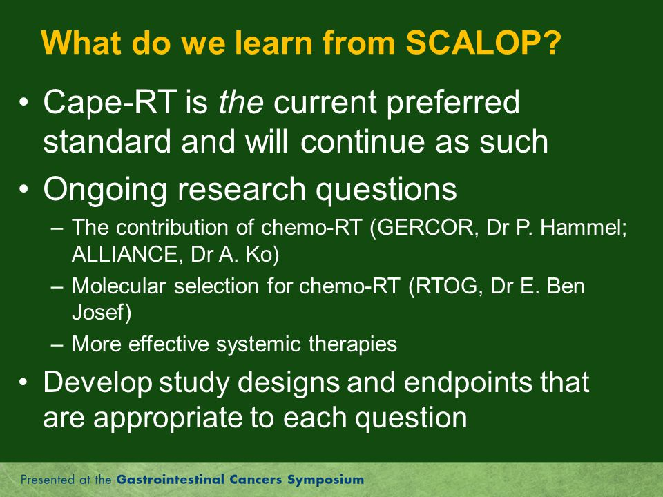 What do we learn from SCALOP
