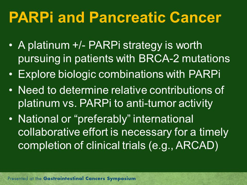 PARPi and Pancreatic Cancer