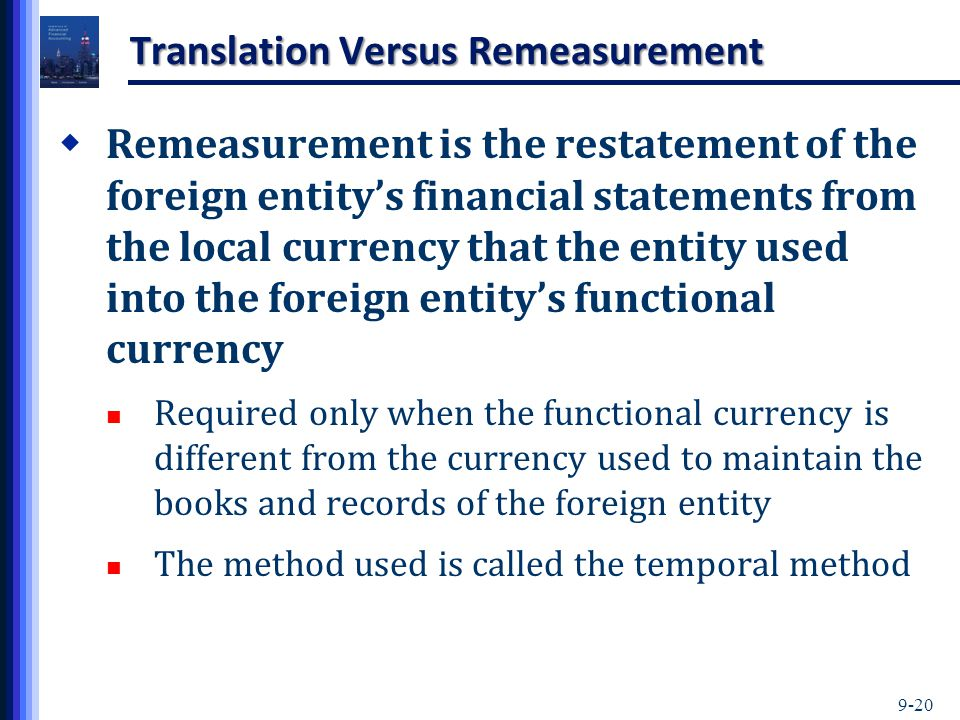 Translation Versus Remeasurement