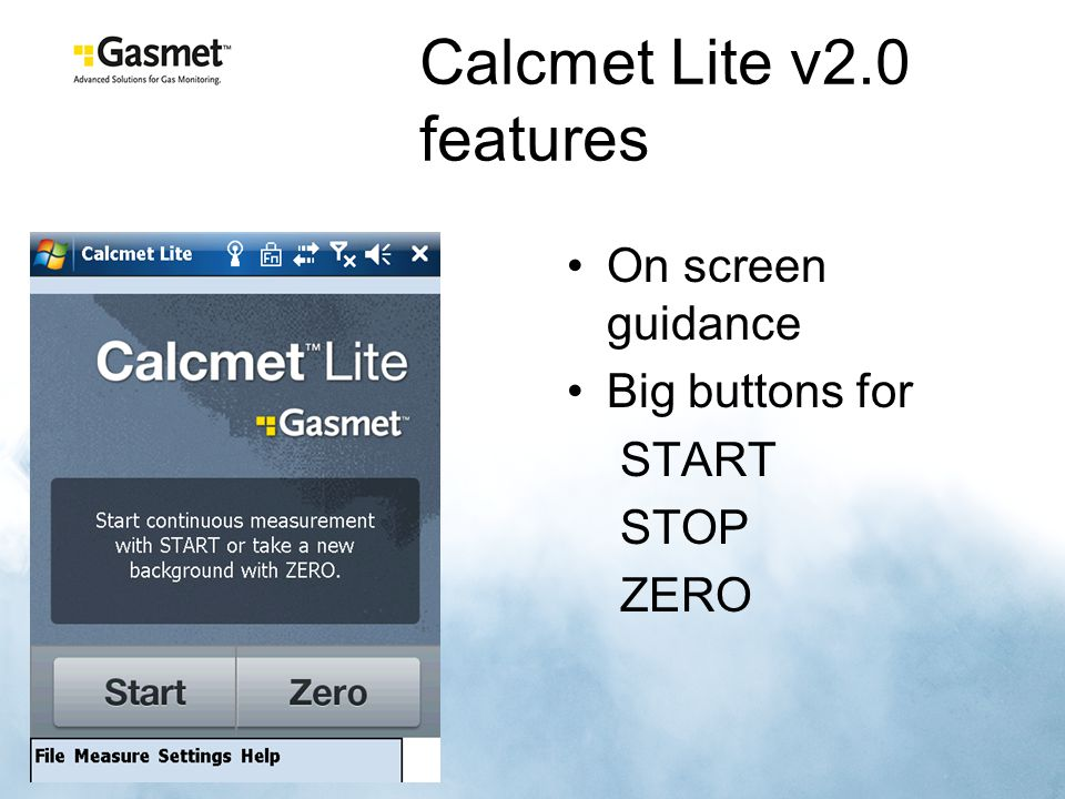 Calcmet Lite v2.0 features