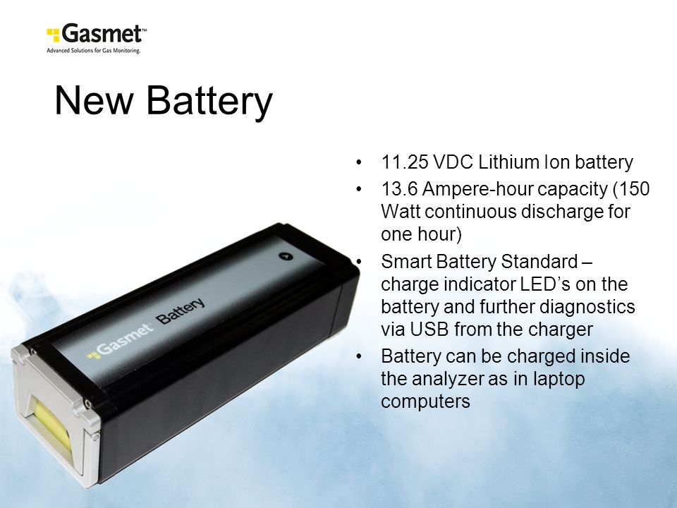 New Battery 11.25 VDC Lithium Ion battery