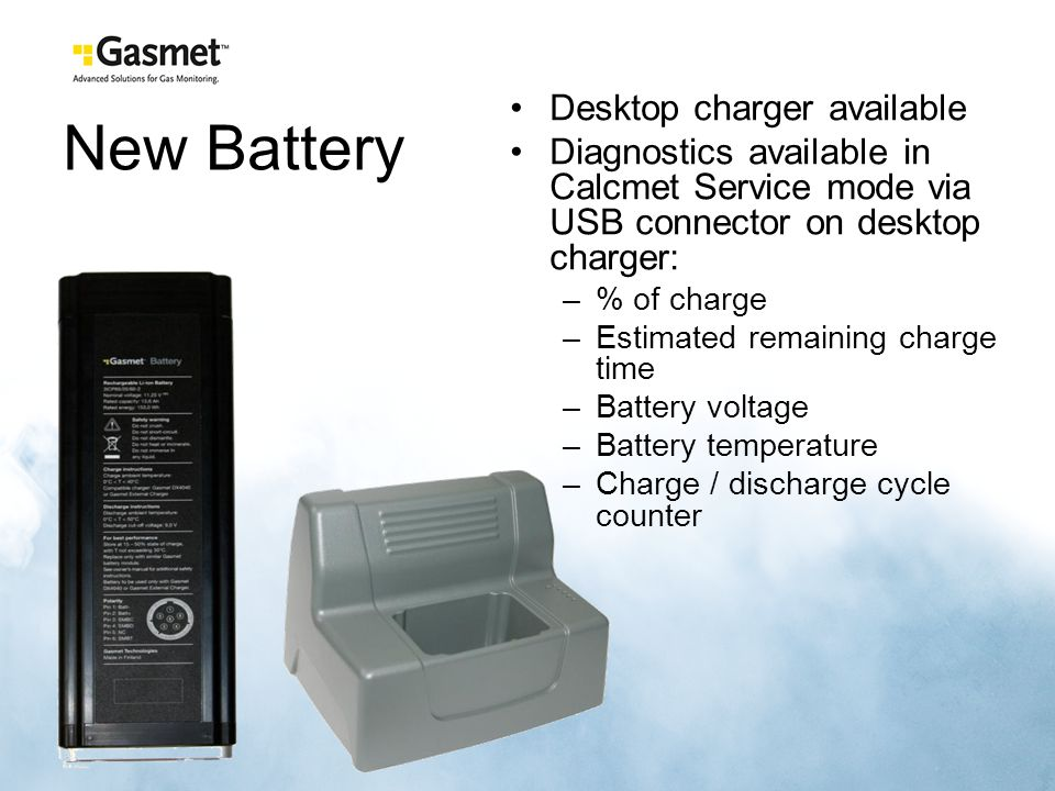 New Battery Desktop charger available