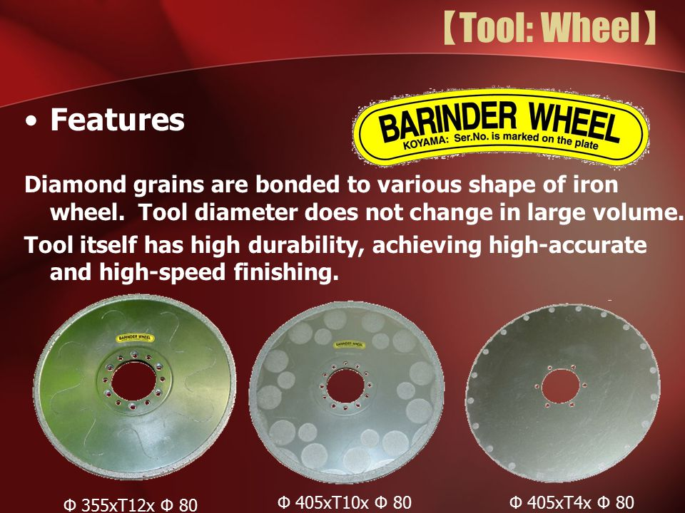 【Tool: Wheel】 Features
