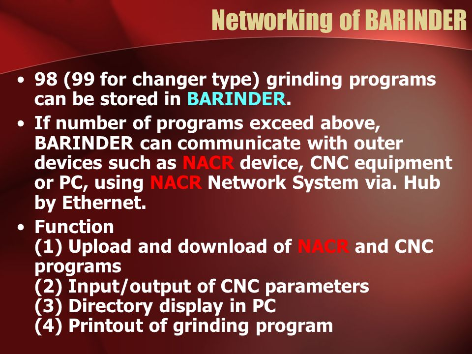 Networking of BARINDER