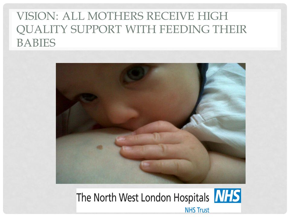 Vision: All Mothers receive high quality Support with feeding their Babies